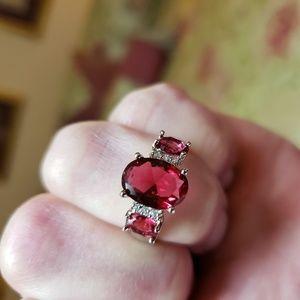 Genuine Red Garnet set in 925 Silver